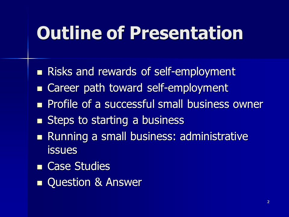 presentation of self outline Planning a training session  it can be as simple as a brief outline, or more complex, with scripts,  or if quizzes and self-test activities will be useful.