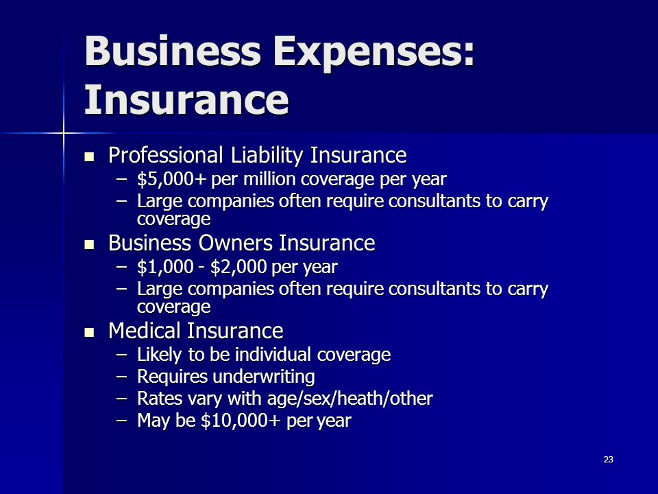 Business Expenses: Insurance