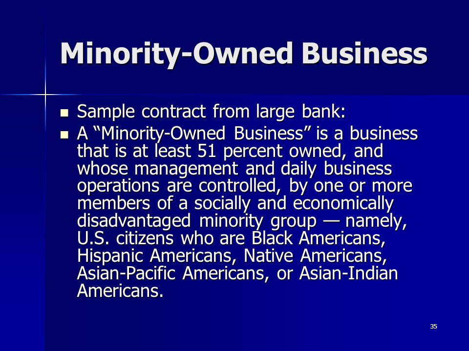Minority-Owned Business