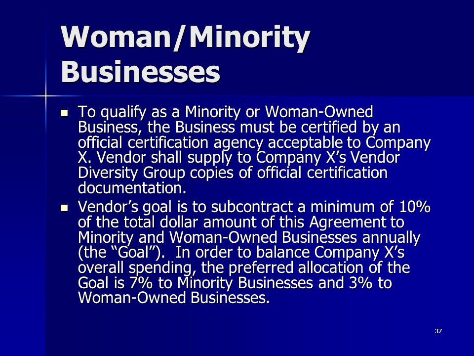Woman/Minority Businesses