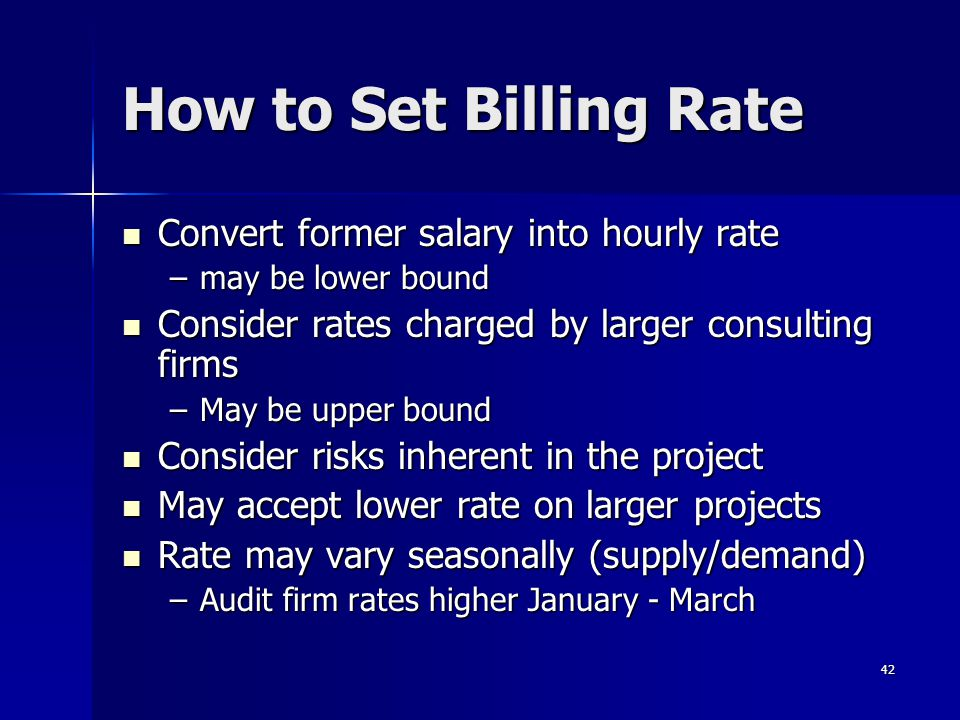 How to Set Billing Rate Convert former salary into hourly rate
