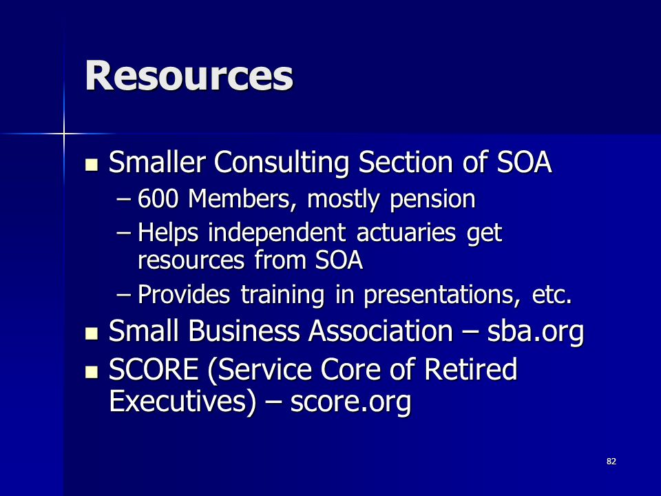 Resources Smaller Consulting Section of SOA