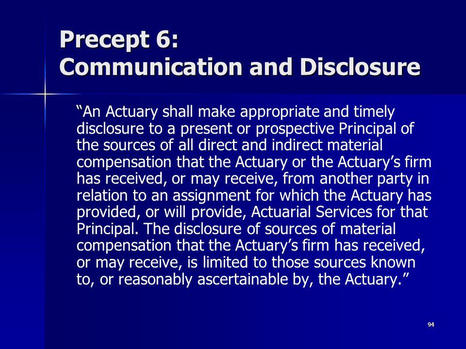 Precept 6: Communication and Disclosure