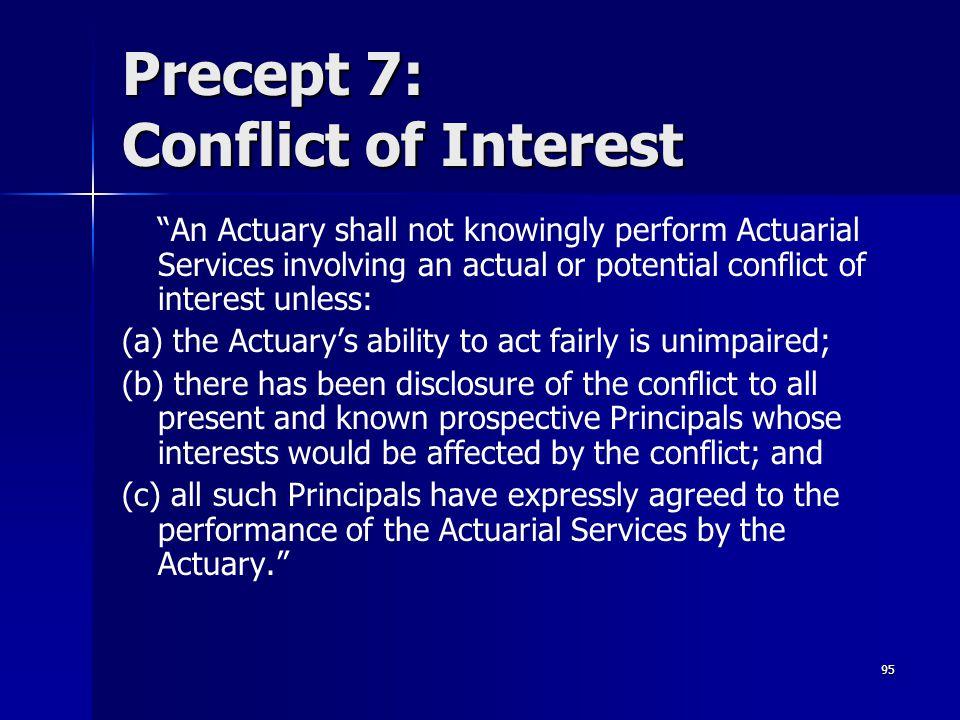 Precept 7: Conflict of Interest