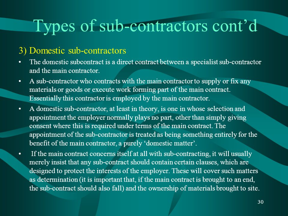 types of sub contractors Prequalifying as a subcontractor learn how to prequalify as a subcontractor with   web site and select the business account option for new user account type.
