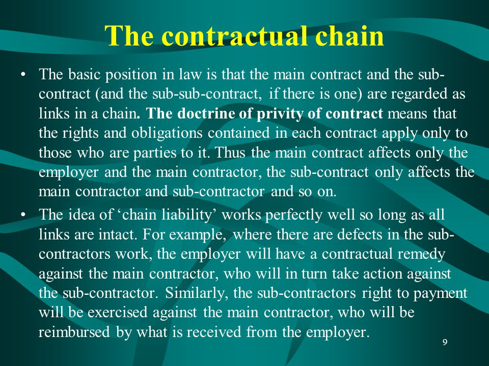 The contractual chain
