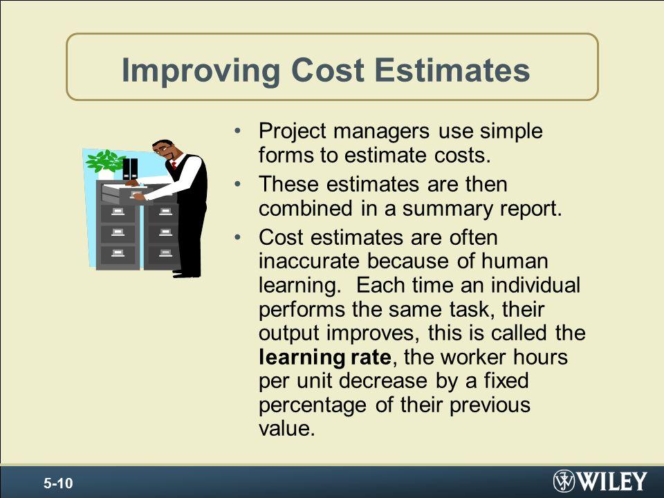 Improving Cost Estimates