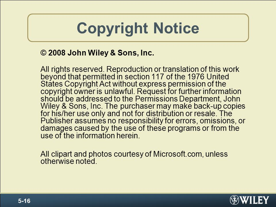 Copyright by John Wiley and Sons, 2006