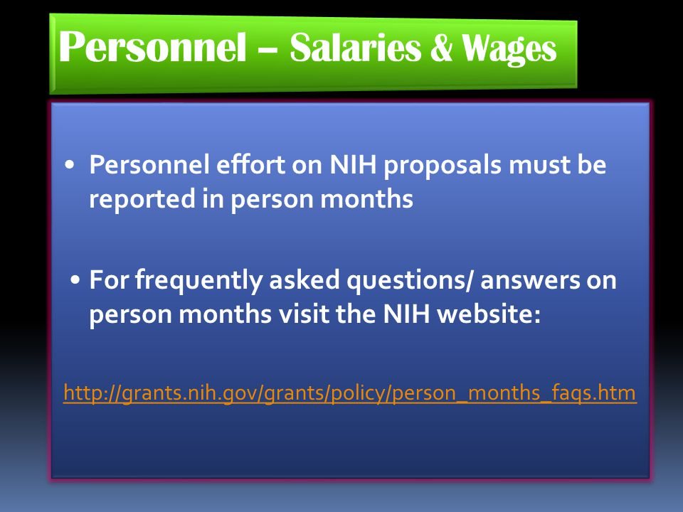 Personnel – Salaries & Wages