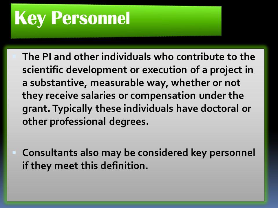 Key Personnel