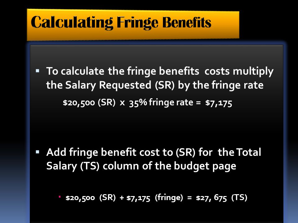 Calculating Fringe Benefits