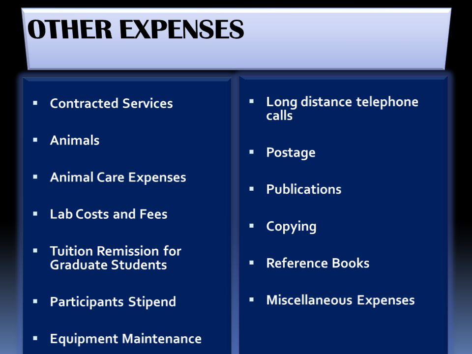 OTHER EXPENSES Long distance telephone calls Contracted Services