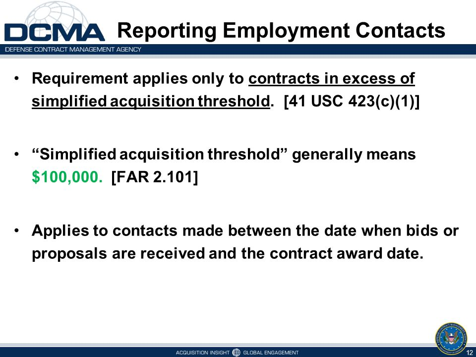 Reporting Employment Contacts