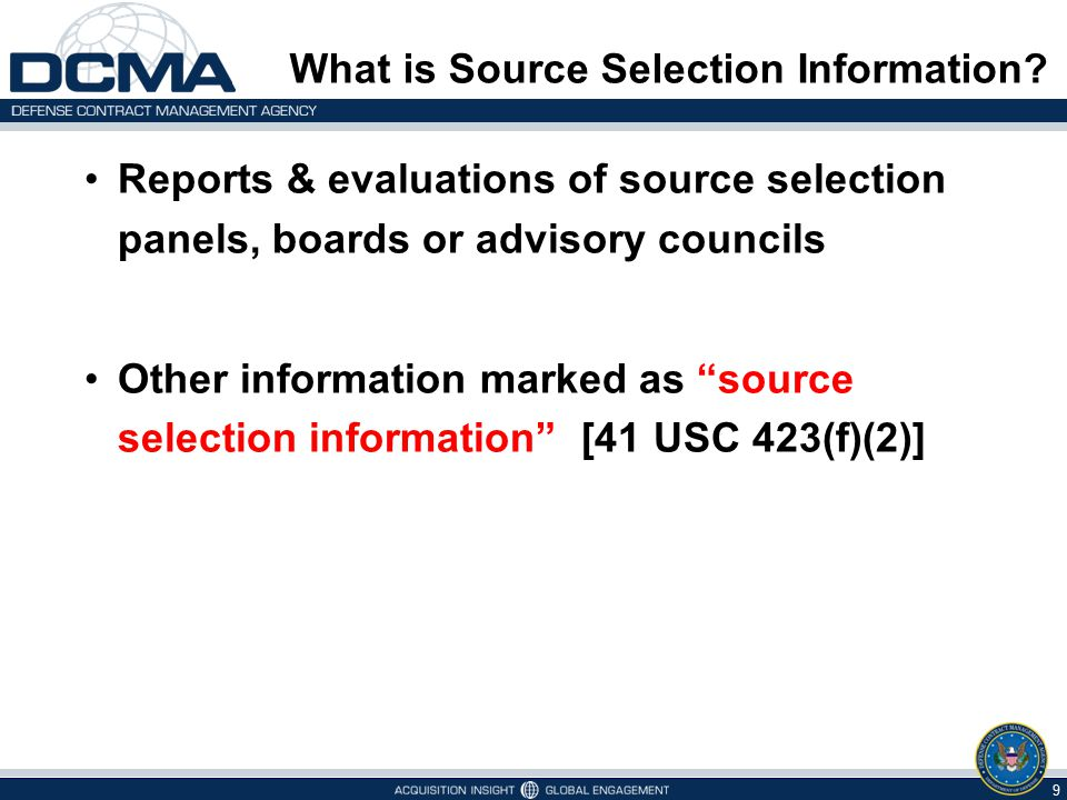 What is Source Selection Information