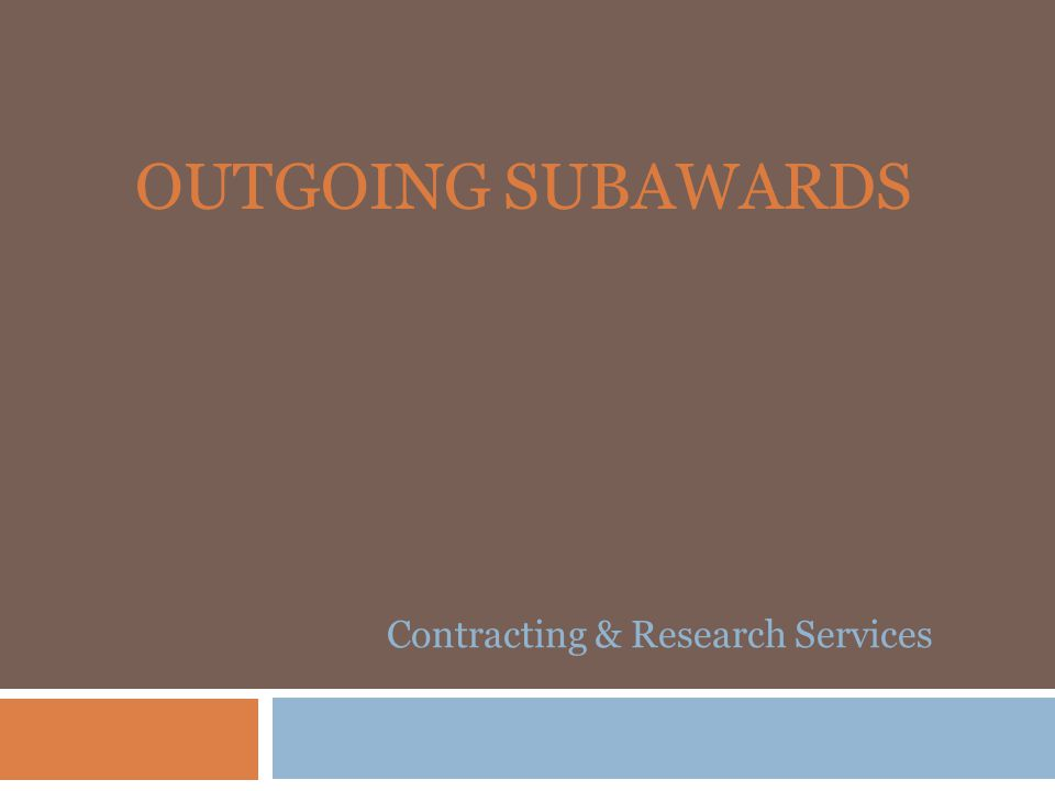 Contracting & Research Services