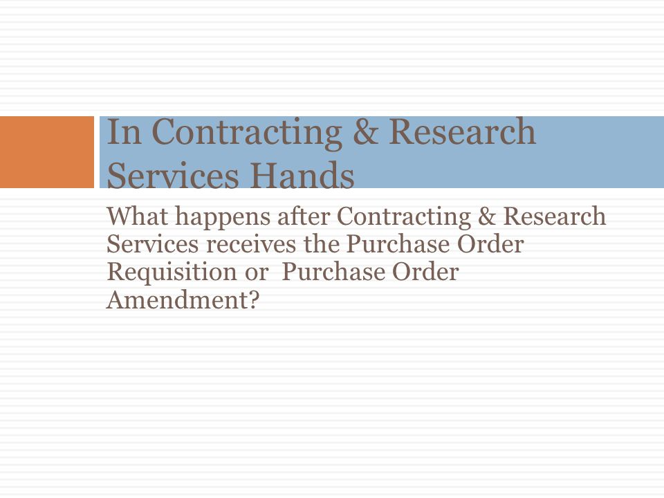 In Contracting & Research Services Hands