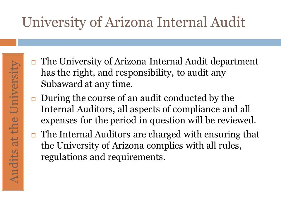 University of Arizona Internal Audit