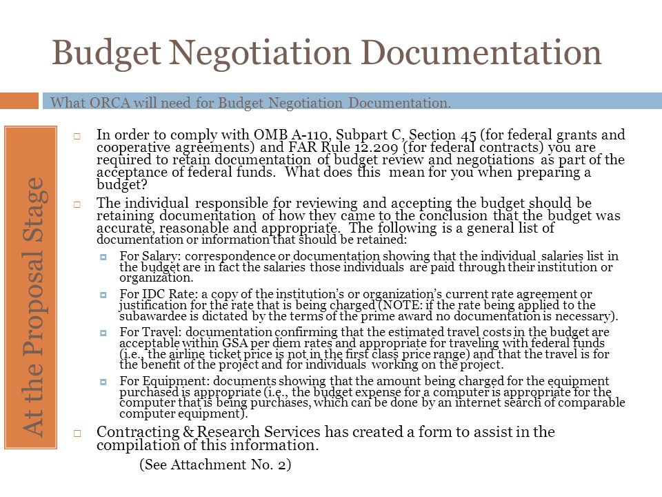 Budget Negotiation Documentation