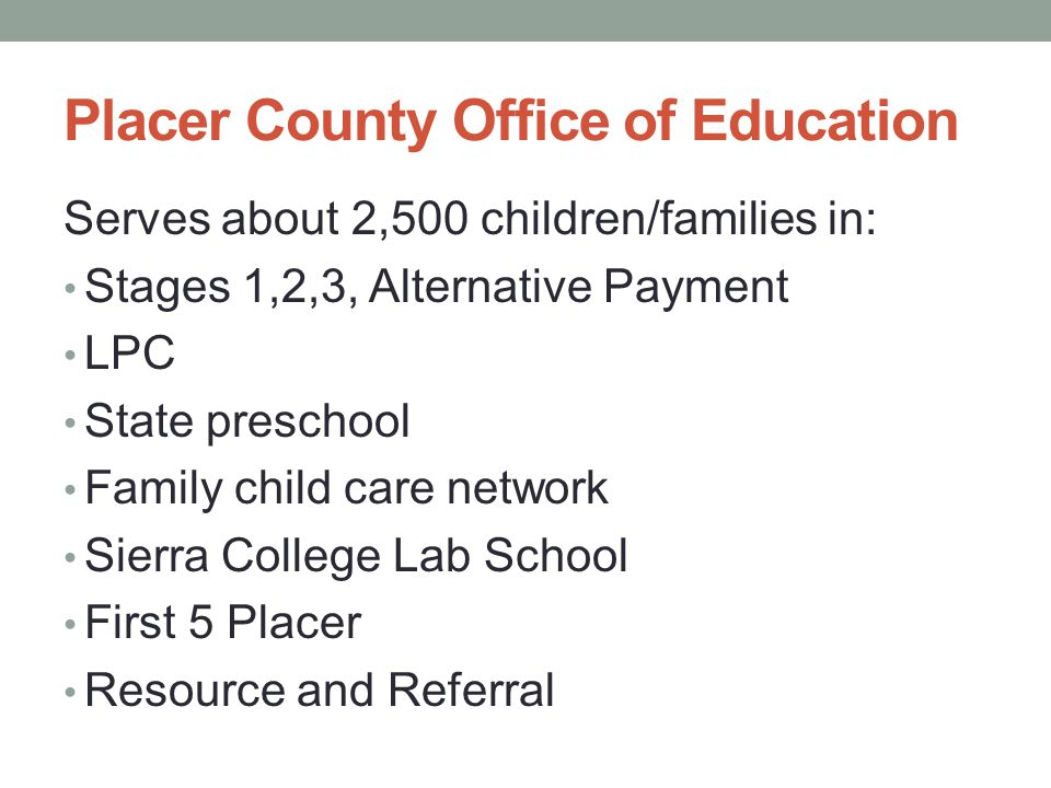 Placer County Office of Education