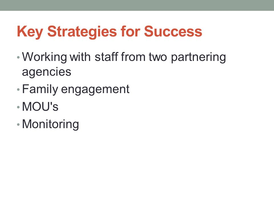 Key Strategies for Success