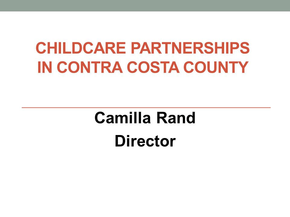 Childcare Partnerships in Contra Costa County