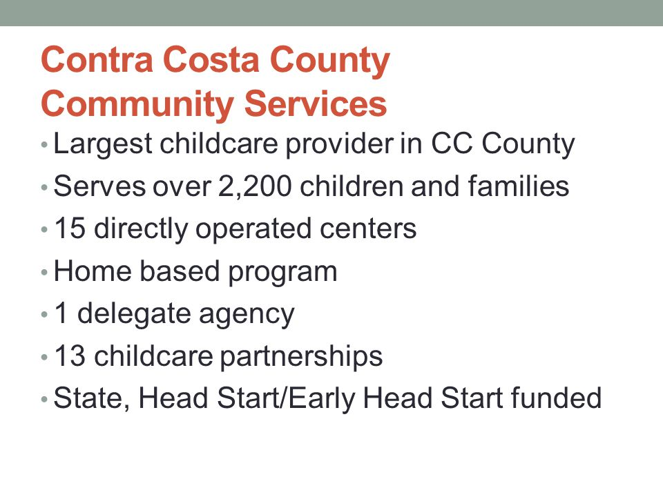 Contra Costa County Community Services