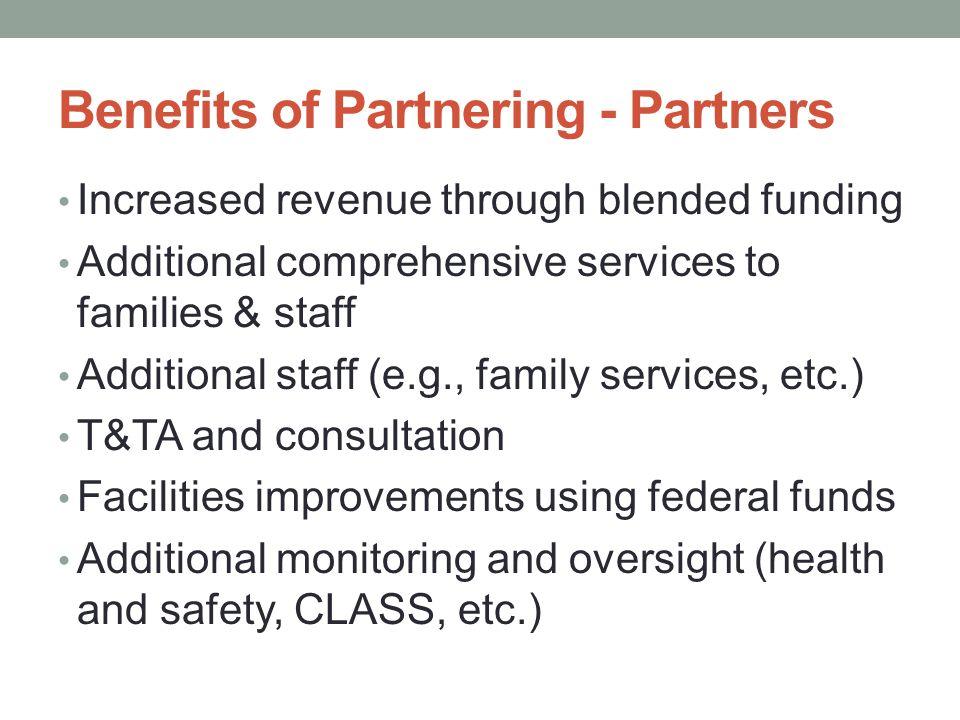 Benefits of Partnering - Partners