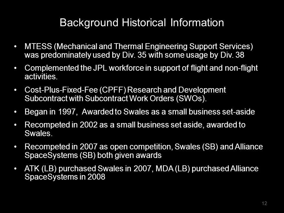 Background Historical Information