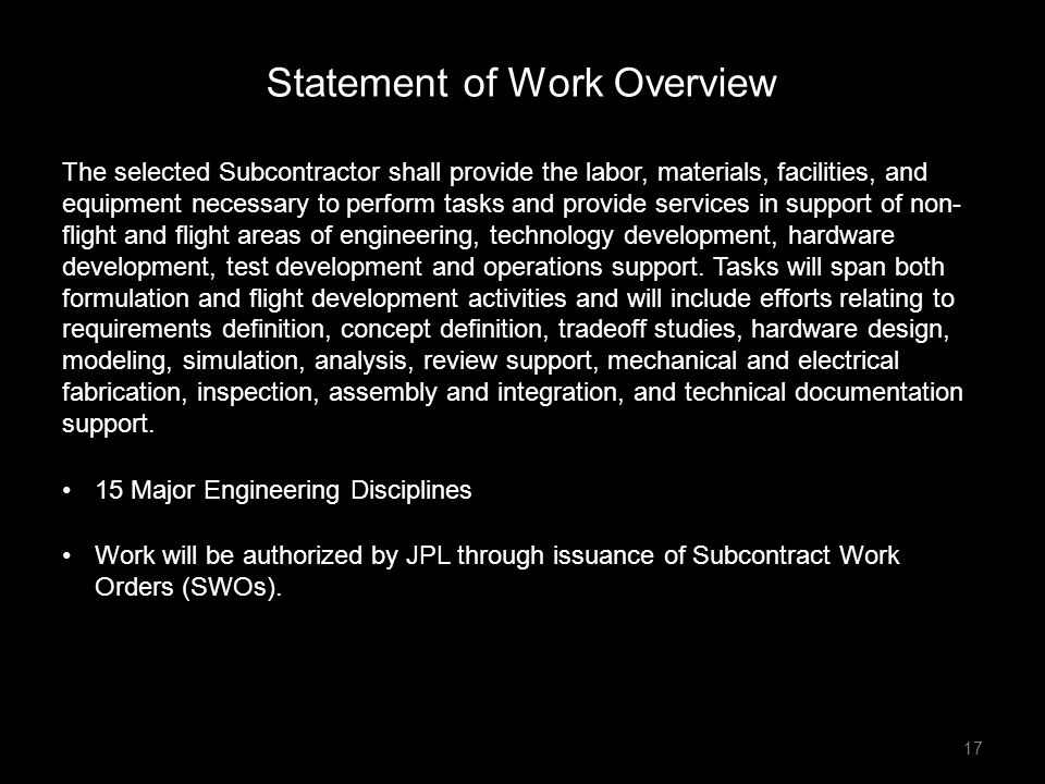 Statement of Work Overview