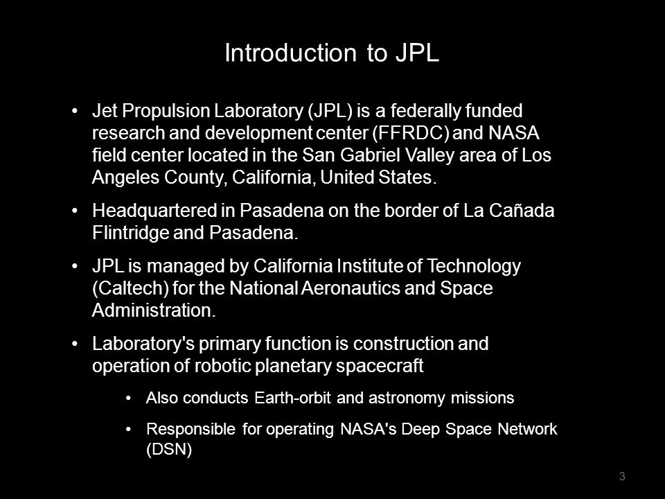 Introduction to JPL