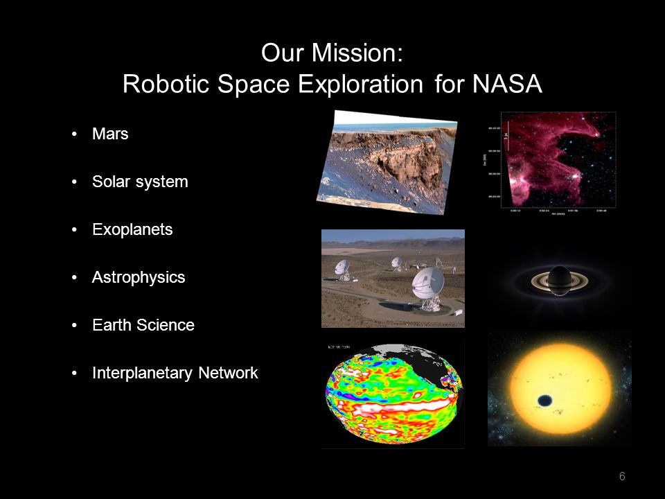 Our Mission: Robotic Space Exploration for NASA