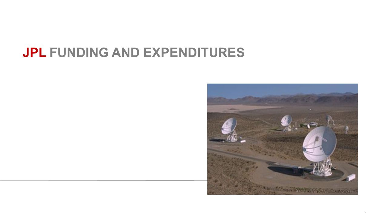 JPL FUNDING AND EXPENDITURES