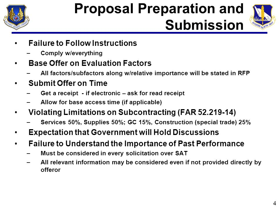 Proposal Preparation and Submission