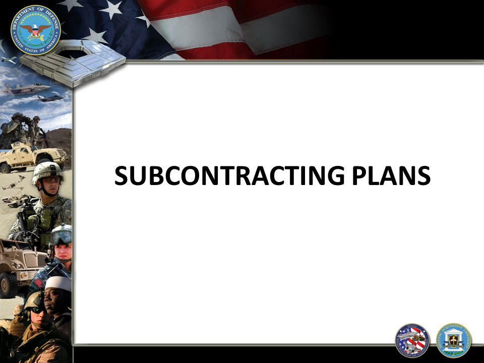 SUBCONTRACTING PLANS