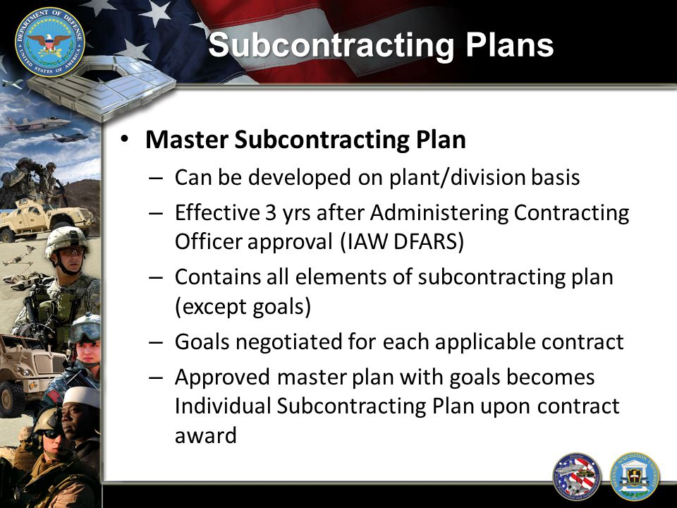 Subcontracting Plans Master Subcontracting Plan