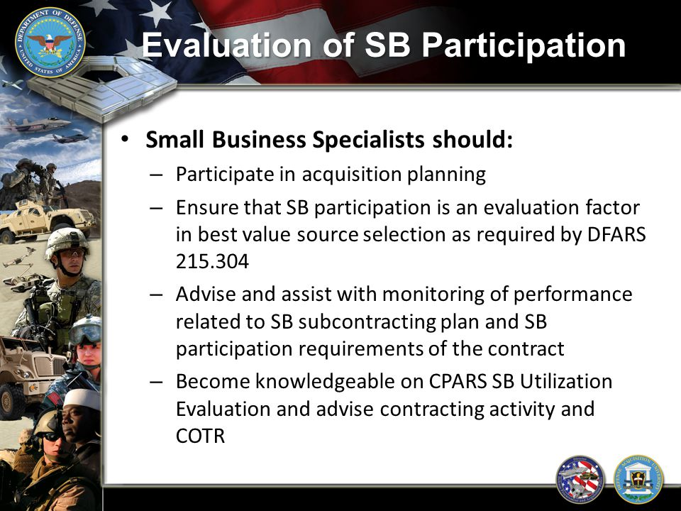 Evaluation of SB Participation