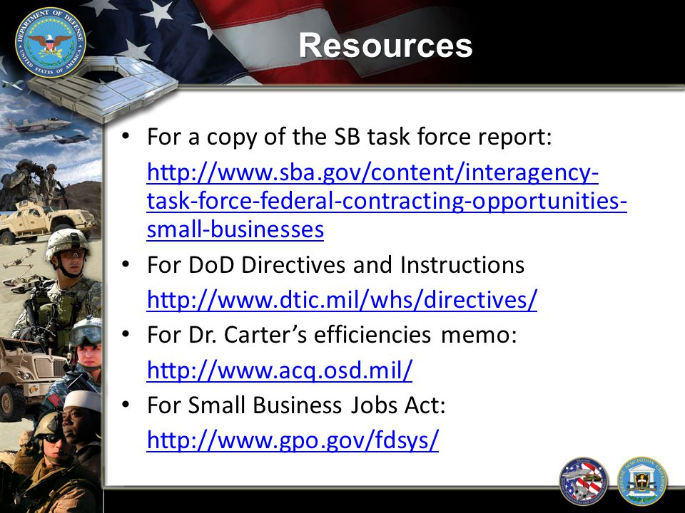 Resources For a copy of the SB task force report: