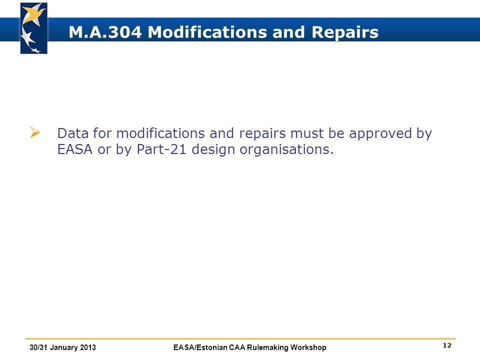 M.A.304 Modifications and Repairs