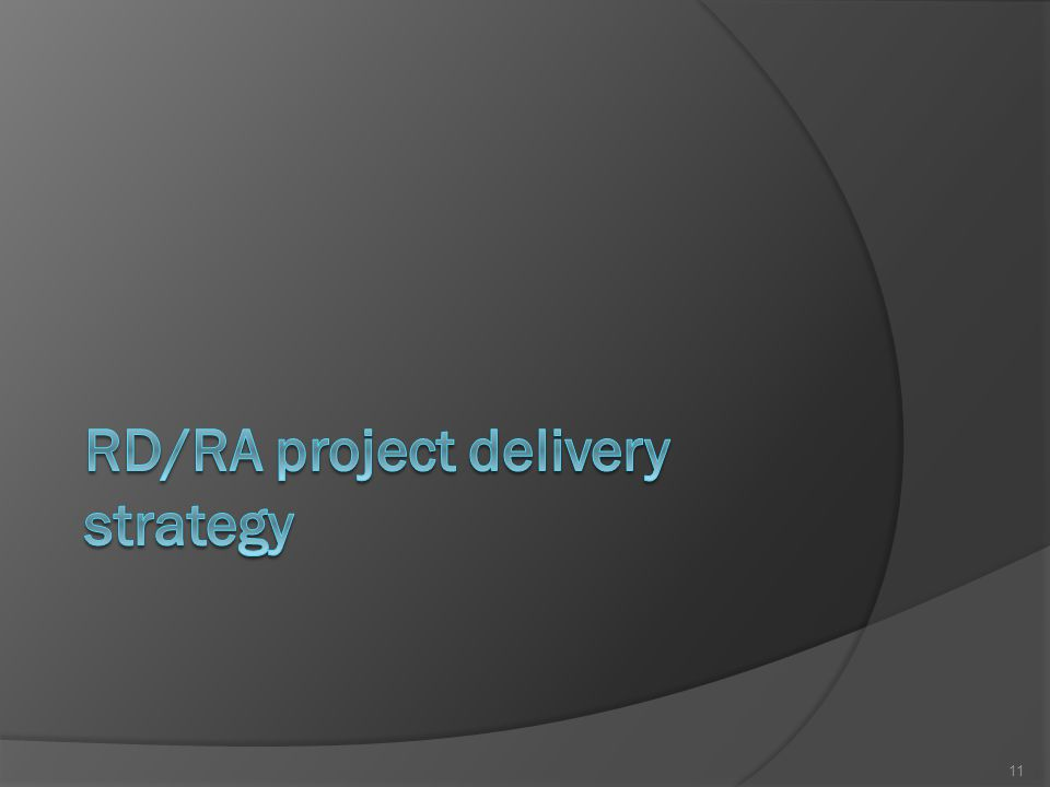 RD/RA project delivery strategy