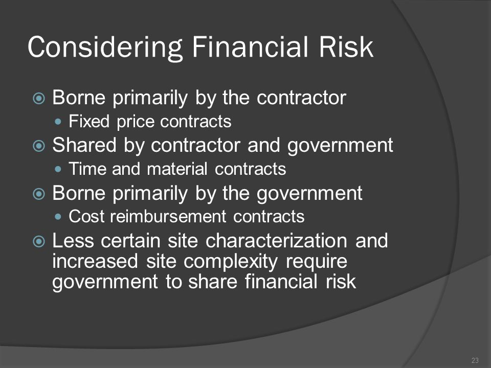 Considering Financial Risk