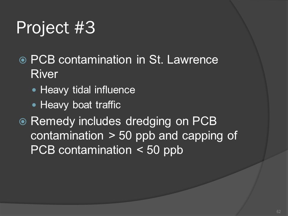 Project #3 PCB contamination in St. Lawrence River