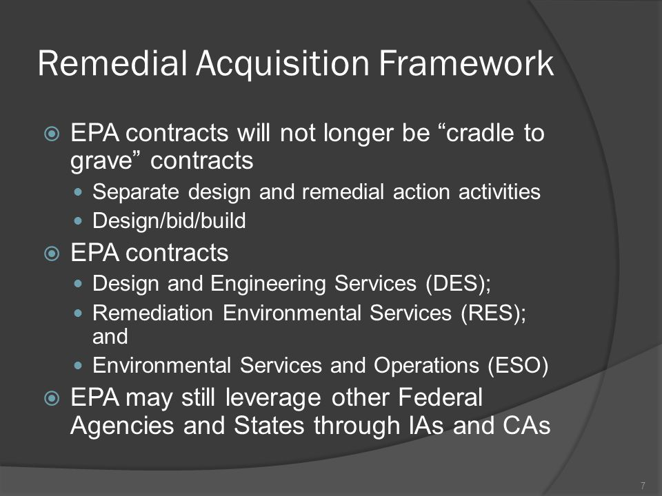 Remedial Acquisition Framework