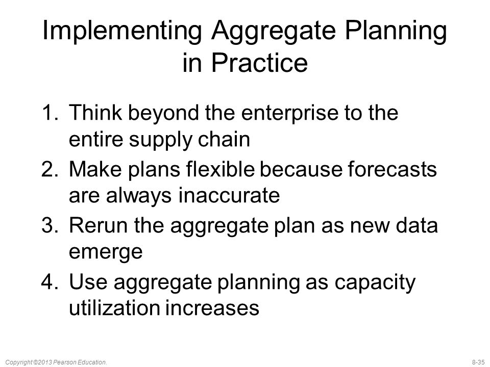 Implementing Aggregate Planning in Practice