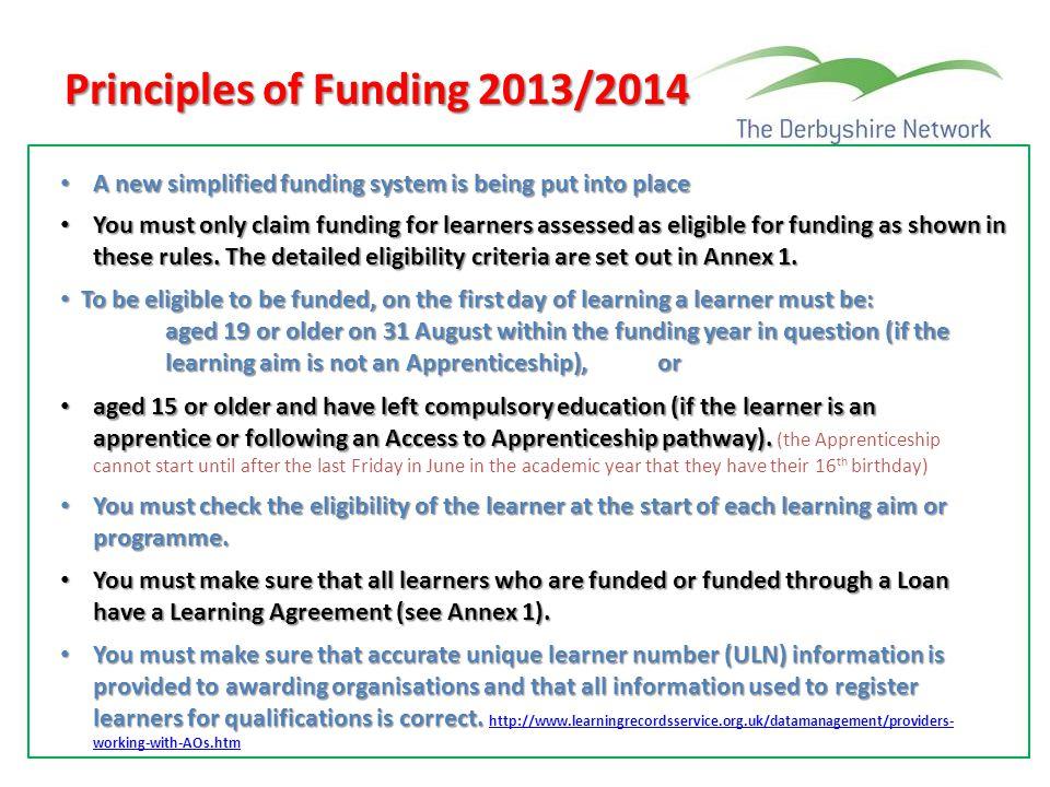 Principles of Funding 2013/2014