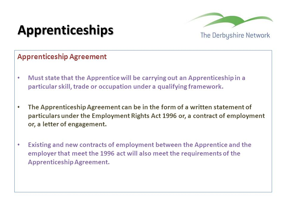 Apprenticeships Apprenticeship Agreement