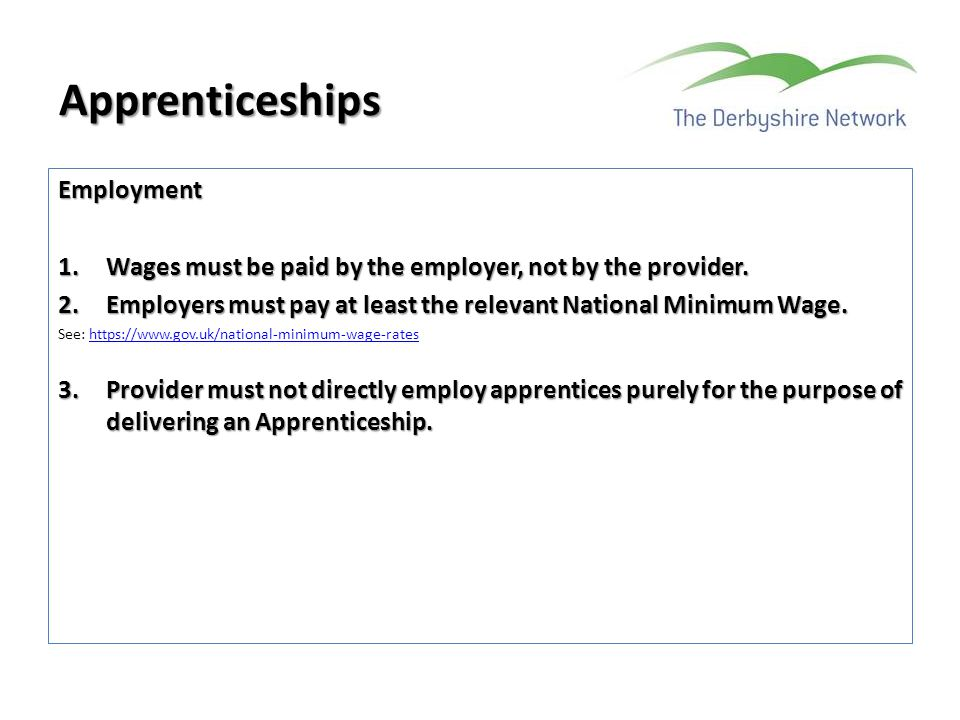 Apprenticeships Employment