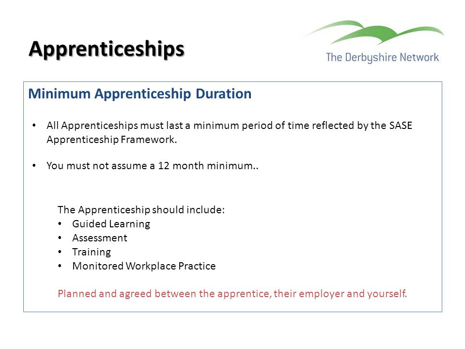 Apprenticeships Minimum Apprenticeship Duration