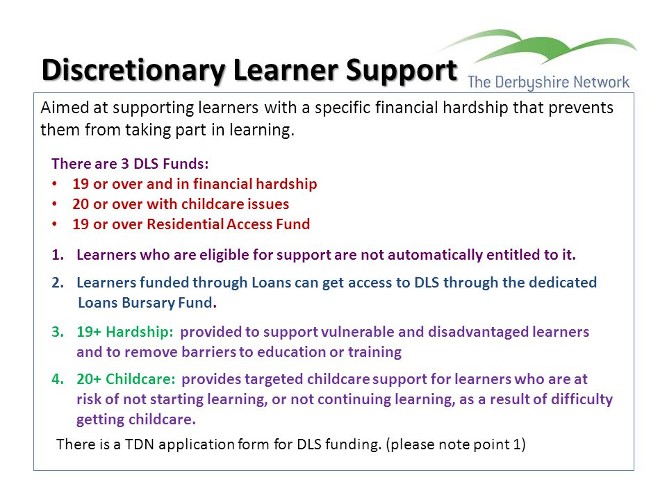 Discretionary Learner Support