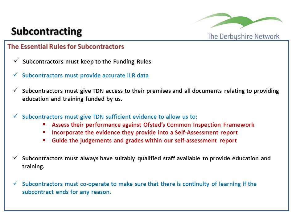 Subcontracting The Essential Rules for Subcontractors
