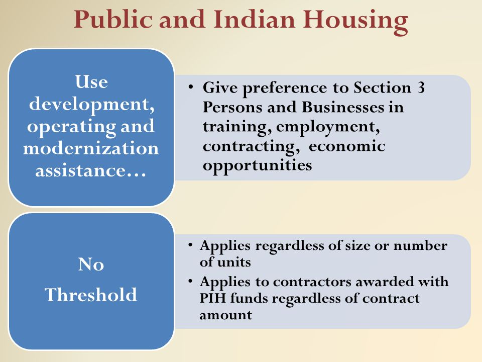 Public and Indian Housing